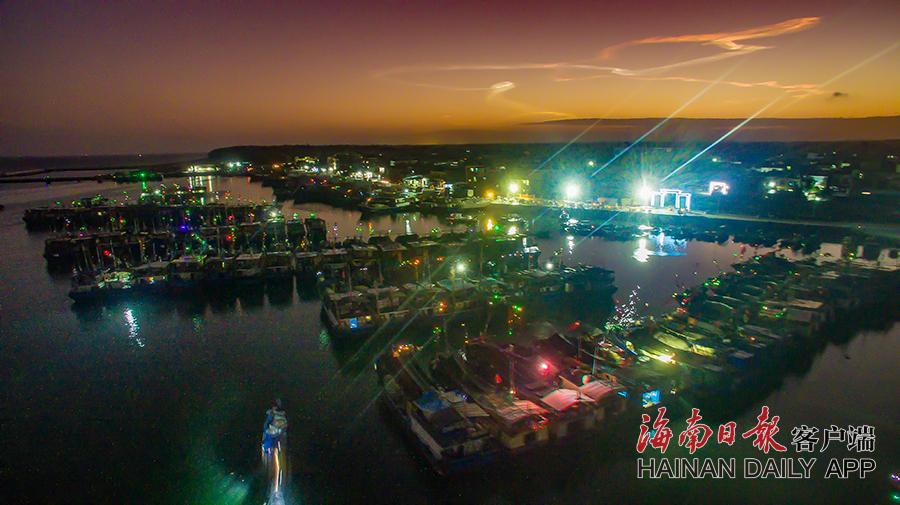 昌江海尾渔港:丰收渔港欢乐多